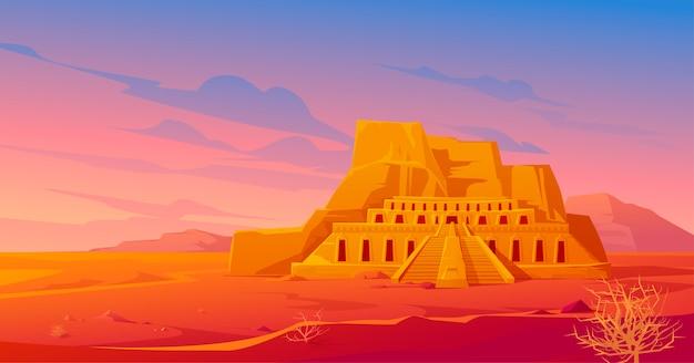 Templo mortuário do egito da rainha hatshepsut, deserto