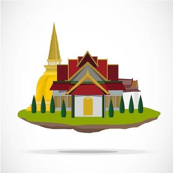 Templo tailandês. palácio