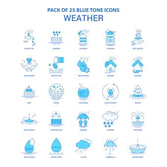Tempo azul tom pacote de ícones