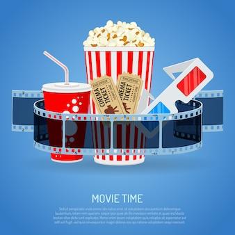 Tempo de cinema e filme