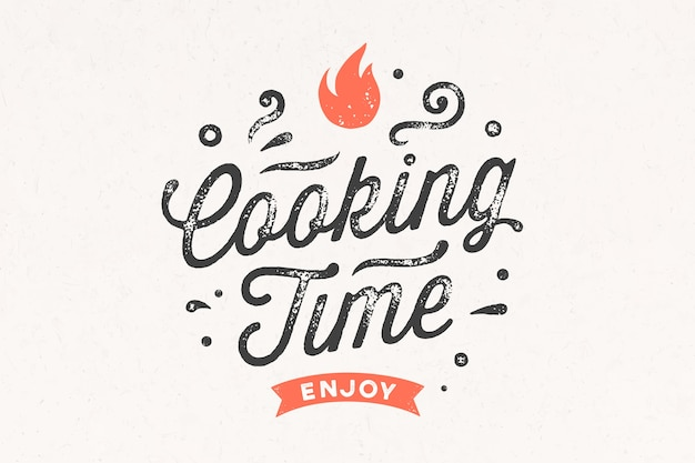 Tempo de cozimento. cartaz de cozinha.