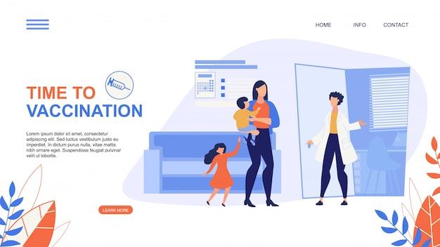 Tempo de flyer de publicidade para rotulação de vacinação