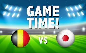 Tempo de jogo Bélgica vs Japão