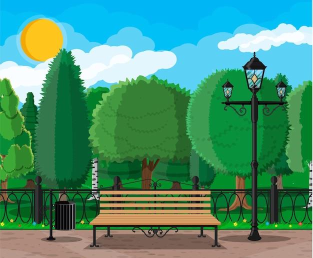 Tempo de lazer no parque da cidade de verão