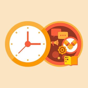 Tempo de negócios e reuniões com parceiros