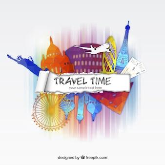 Tempo de viagem fundo