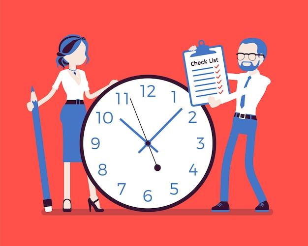 Tempo, deveres para empresários