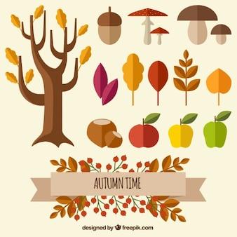 Tempo do outono natureza