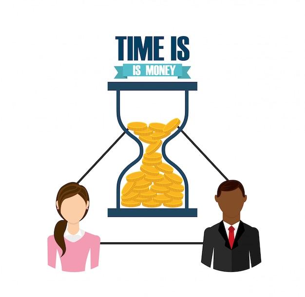 Tempo é dinheiro design