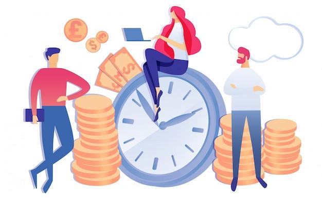 Tempo é dinheiro pessoas lucro financeiro discutir