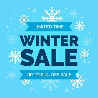 Tempo limitado de venda de inverno plana