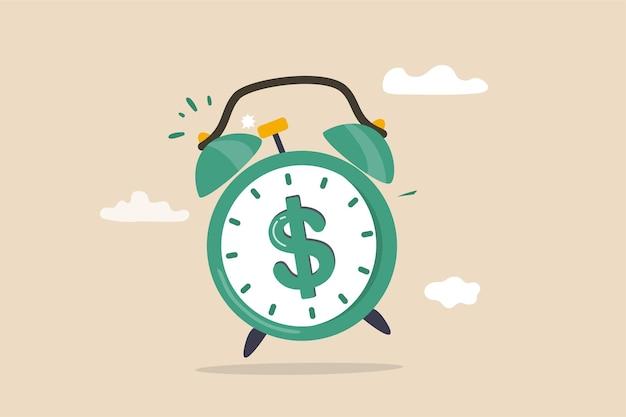 Tempo para o conceito de dinheiro.
