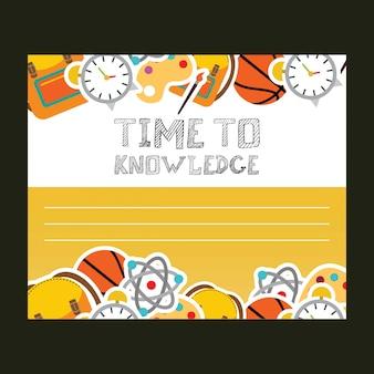 Tempo para o vetor de design de tipografia de conhecimento