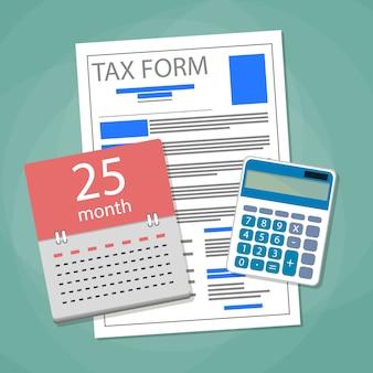Tempo para pagar o conceito de impostos