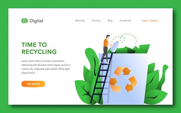 Tempo para reciclar o modelo da página de destino