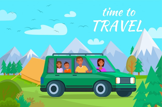 Tempo para viajar banner horizontal