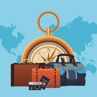Tempo para viajar conceito
