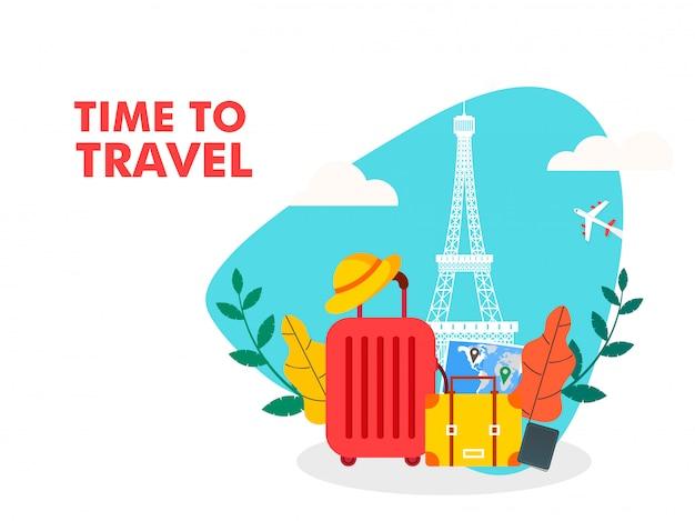 Tempo para viajar ilustração