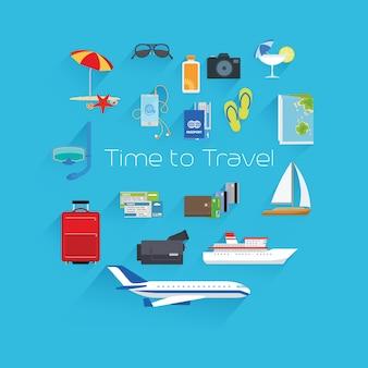 Tempo para viajar modelo de cartaz