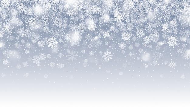 Temporada de inverno caindo neve com flocos de neve