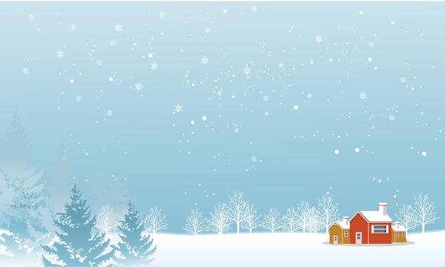 Temporada de inverno, quando a neve está caindo