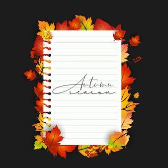 Temporada de outono com design criativo