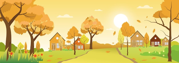 Temporada de paisagem de outono