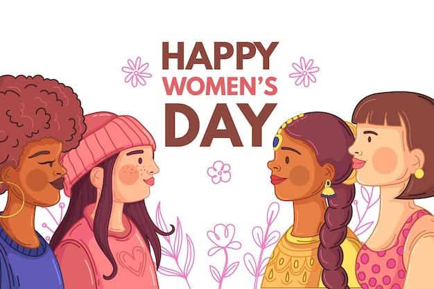 Temporada de primavera para o dia da mulher