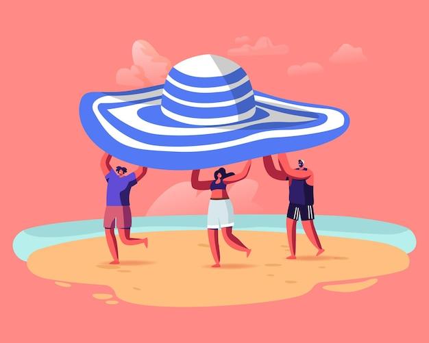 Temporada de verão, ilustração de férias.