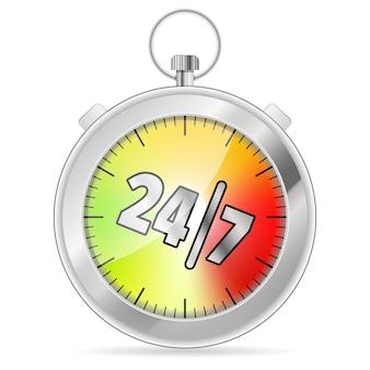 Temporizador 24/7 conceito