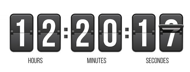 Temporizador com números, contador de relógio.