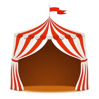Tenda de circo com bandeira