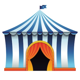 Tenda de circo de vetor