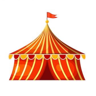 Tenda de circo dos desenhos animados