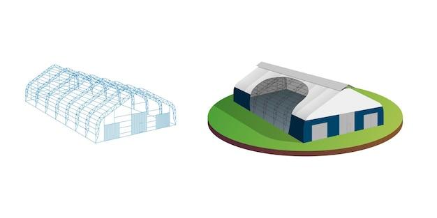 Tenda de lona de toldo armazém temporário exposição túnel corredor aeronave hangar