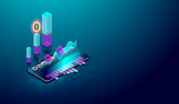 Tendência de negócios e análise financeira