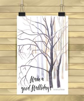 Tenha um bom cartaz holliday da natureza