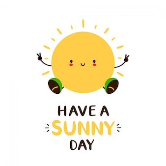 Tenha um cartão do dia ensolarado