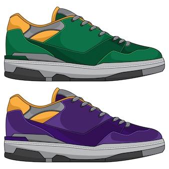 Tênis com design de calçados esportivos