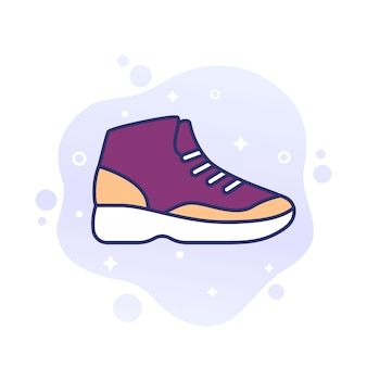 Tênis de basquete, ícone de tênis de cano alto
