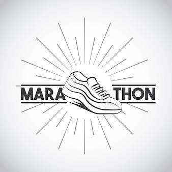 Tênis de corrida de maratona