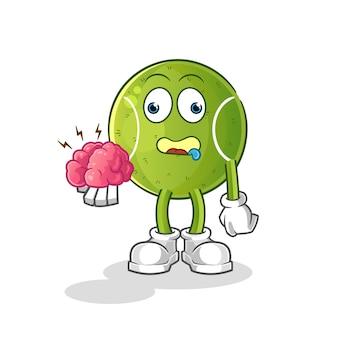 Tênis sem cérebro. personagem de desenho animado