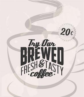 Tentar o nosso cartaz de café
