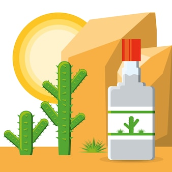 Tequila garrafa mexicano tradicional bebida