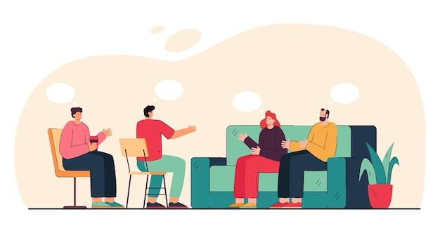 Terapia de grupo para pessoas com dependência
