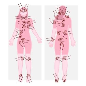 Terapia de reiki com corpo e mãos