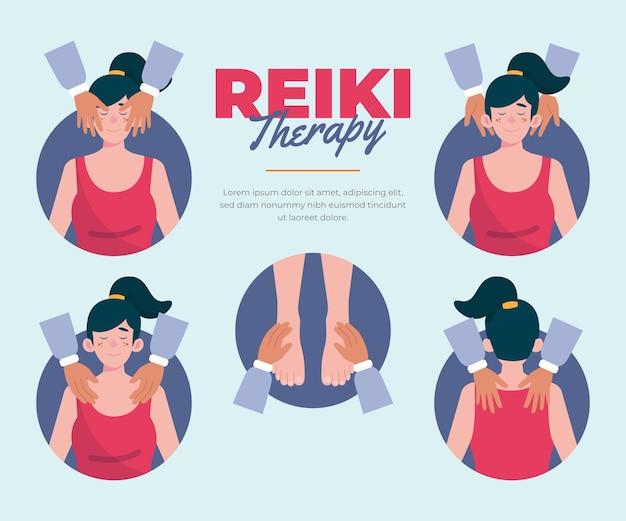 Terapia de reiki com massagens