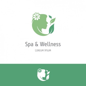 Termas verdes e fundo de bem-estar