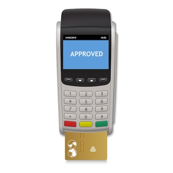 Terminal de pagamento realista