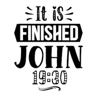 Terminou o modelo de cotação de john 1930 typography premium vector design